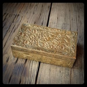 Antique Chinese Brass Box
